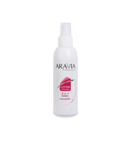 ARAVIA Лосьон 2 в 1 для замедления роста волос и вросших волос с фруктовыми кислотами 150мл