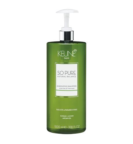 KEUNE SPA Тонизирующий Шампунь для тонких и редких волос 1000мл Energizing Shampoo