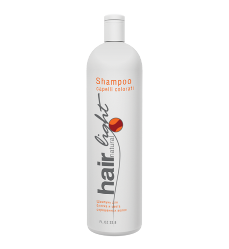 HAIR COMPANY Hair Light Natural Шампунь для блеска и цвета окраш.вол. 1000мл. Италия
