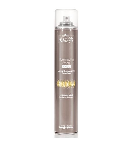 HAIR COMPANY Illuminating Fixing Spray Фиксирующий лак, придающий блеск 500мл. Италия