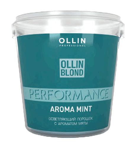 OLLIN PERFORMANCE Осветляющий порошок с ароматом мяты белого цвета, 500 мл. Россия