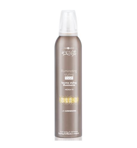 HAIR COMPANY Illuminating Style Foam Мусс, придающий блеск 250мл. Италия
